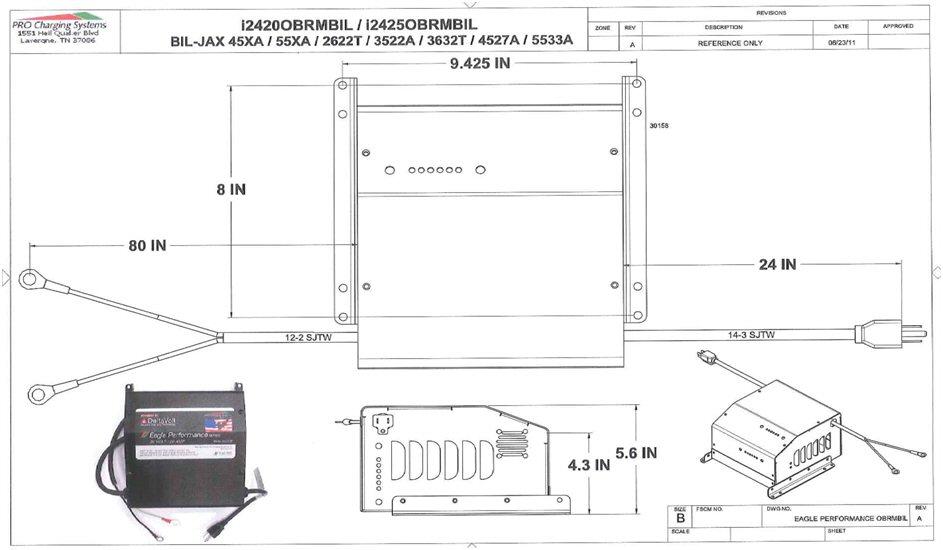 I2420obrmbil Eagle Performance Scissor Lift Battery