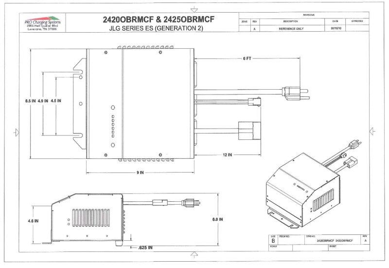 I2425obrmcf Eagle Performance Scissor Lift Battery Charger  24 Volt 25 Amp