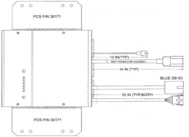 I4818OBRMJLGS400A Eagle Performance JLG Boom Lift Battery    Charger     48 Volt 18 Amp