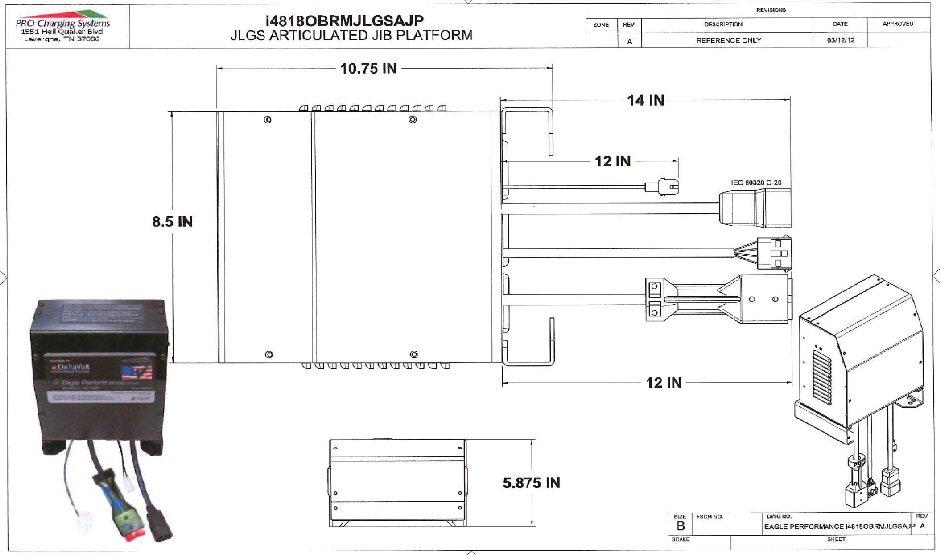 I4818obrmjlgsajp Eagle Performance Jlg Boom Lift Battery